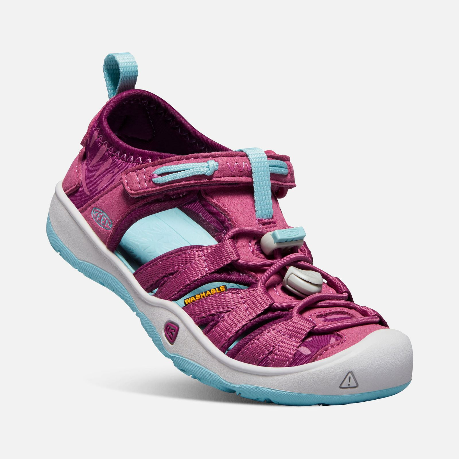 KEEN Moxie Sandal JR Red violet / Pastel turquoise Dívčí sandál
