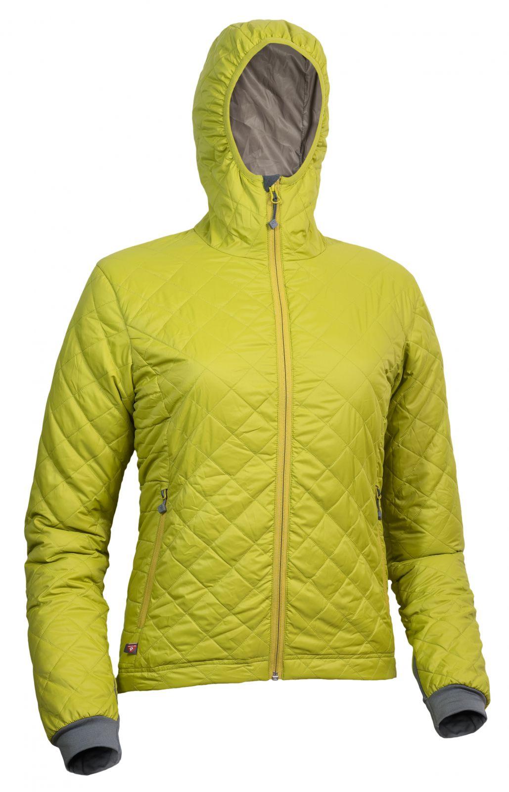 Warmpeace Astra Lady mustard / walnut dámská bunda zateplená PrimaLoftem