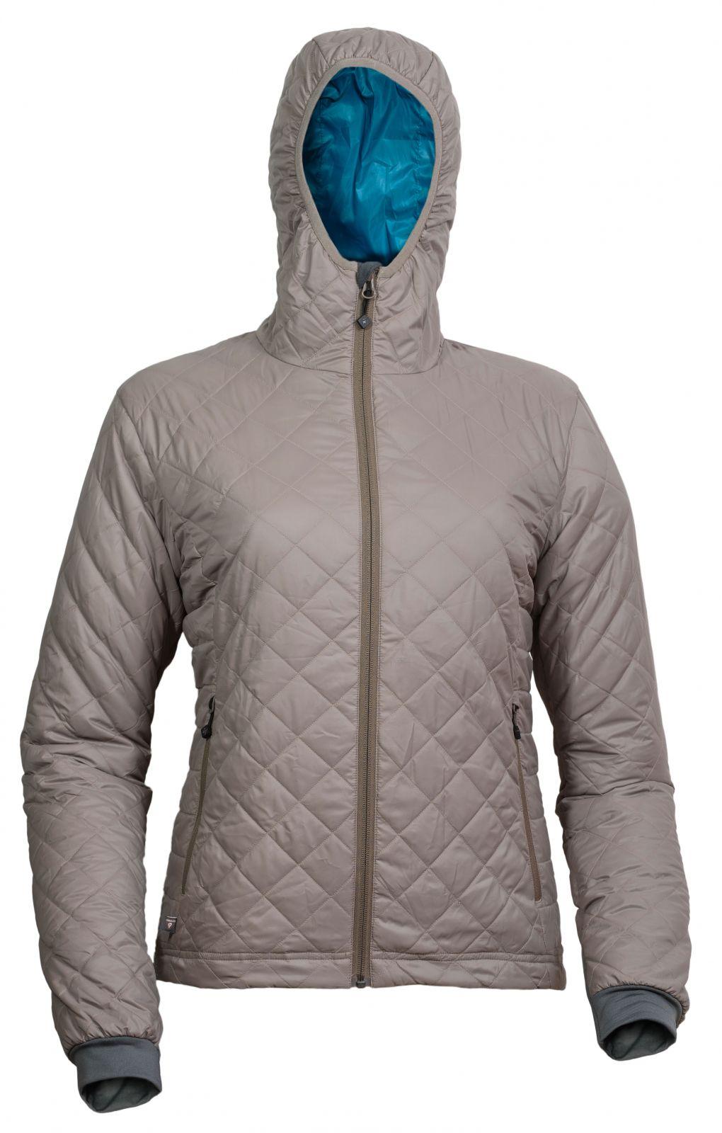 Warmpeace Astra Lady walnut / petrol dámská bunda zateplená PrimaLoftem