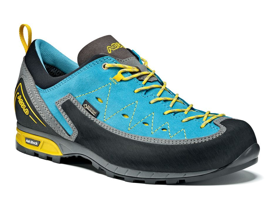 Asolo Apex GV ML donkey / cyan blue dámské pevné boty na ferraty