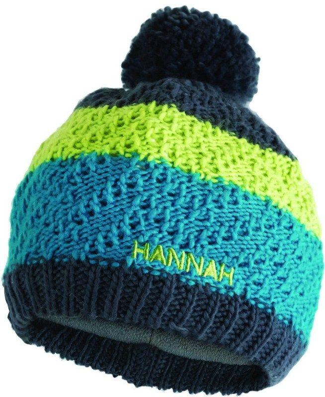 Hannah Bobble JR Tile blue / lime green čepice