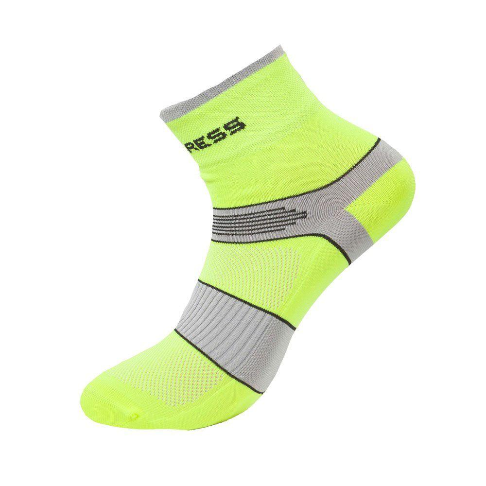 Progress Cycling cyklistické ponožky reflexní žlutá/šedá