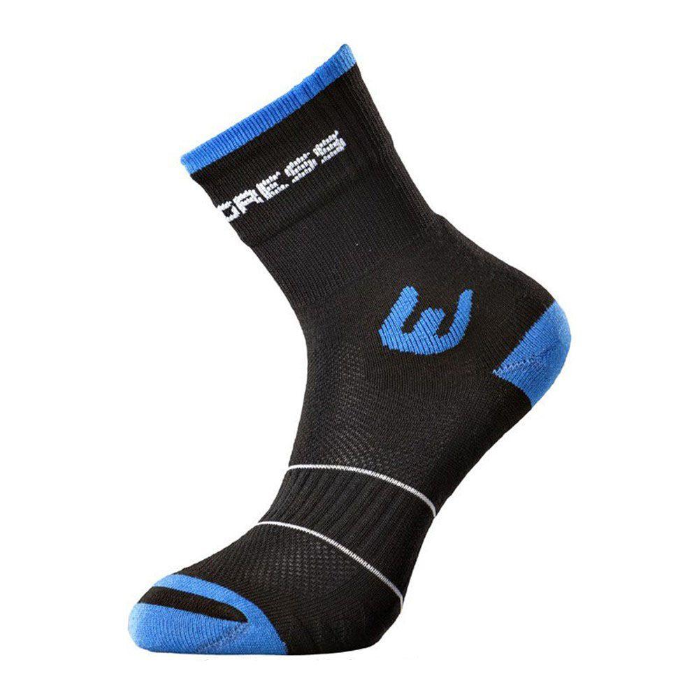 Progress WALKING letní turistické ponožky černá/modrá