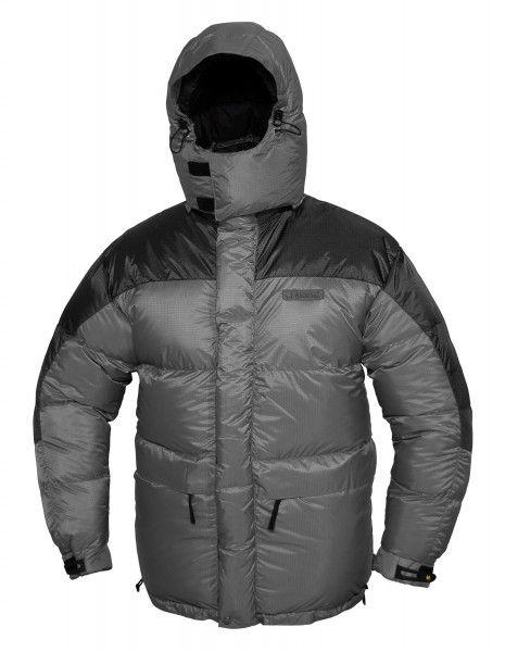 Extrémní péřová bunda Warmpeace Makalu šedá/černá