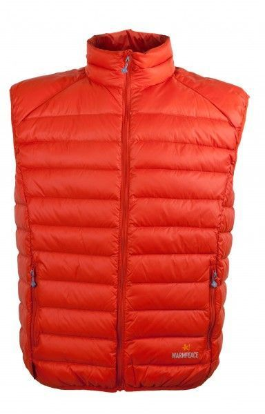 Warmpeace Drake péřová vesta mandarine