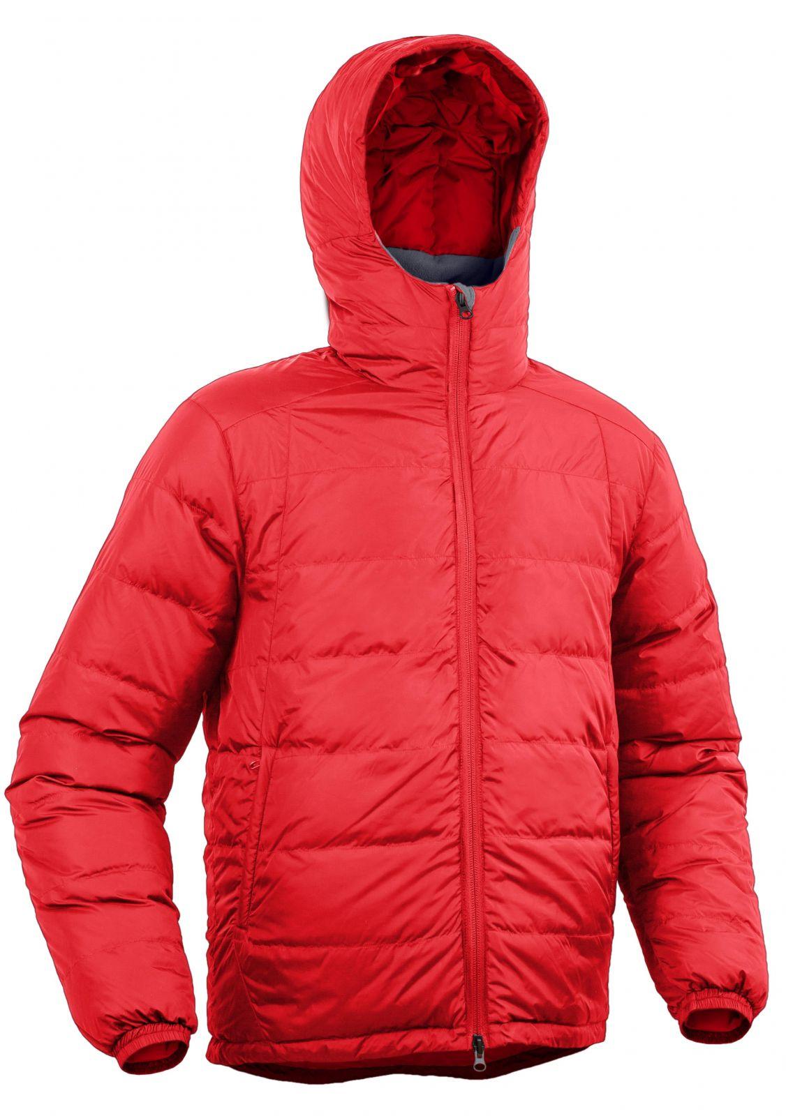 Warmpeace Pioneer formula red pánská péřová bunda