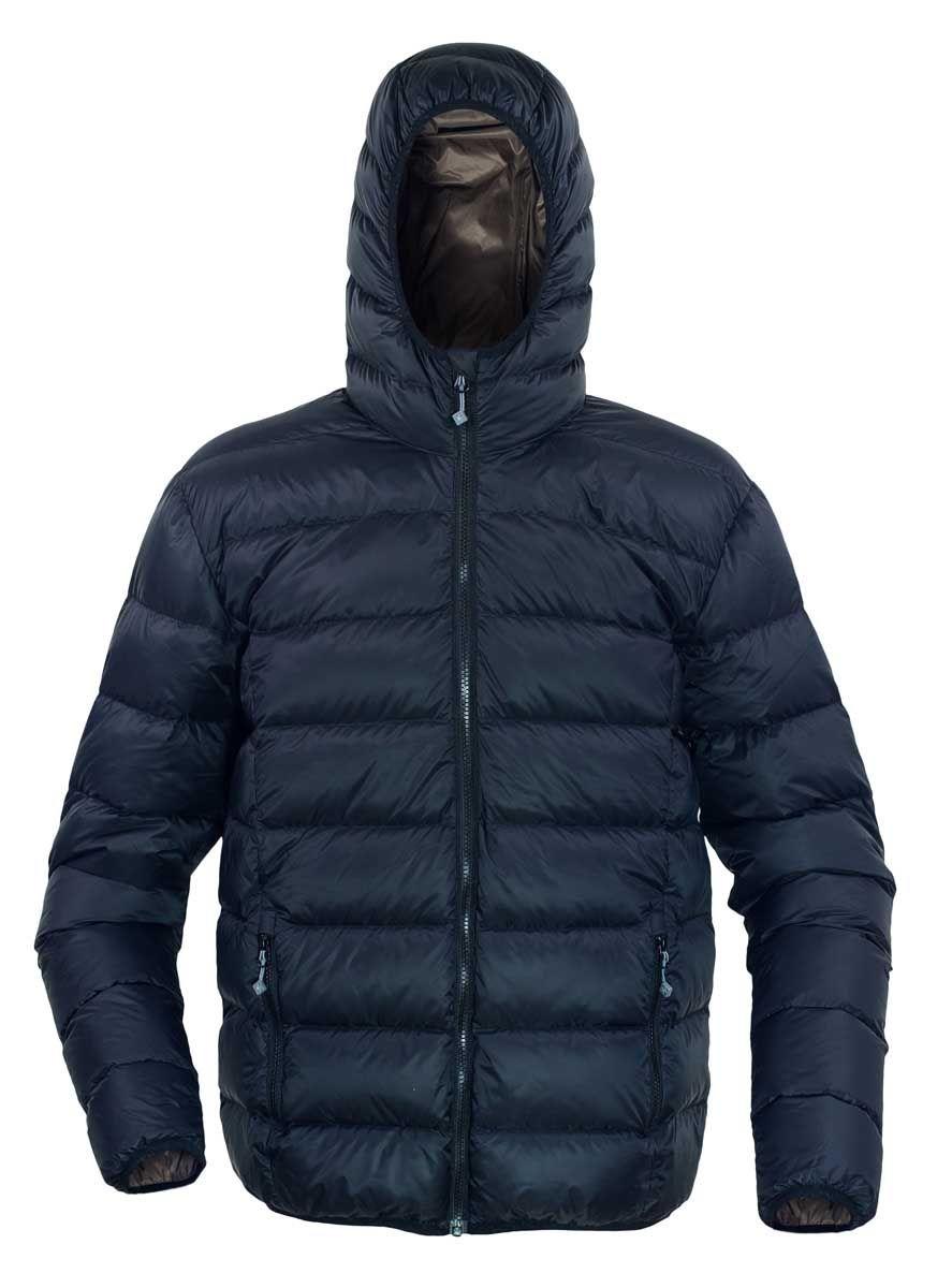Warmpeace Vernon black/brown péřová bunda