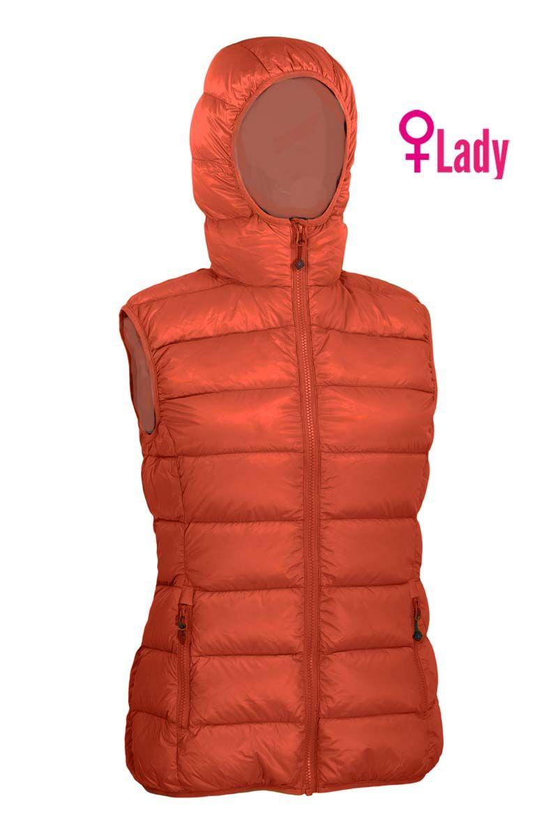 Warmpeace Yuba lady orange/fuego orange dámská péřová vesta