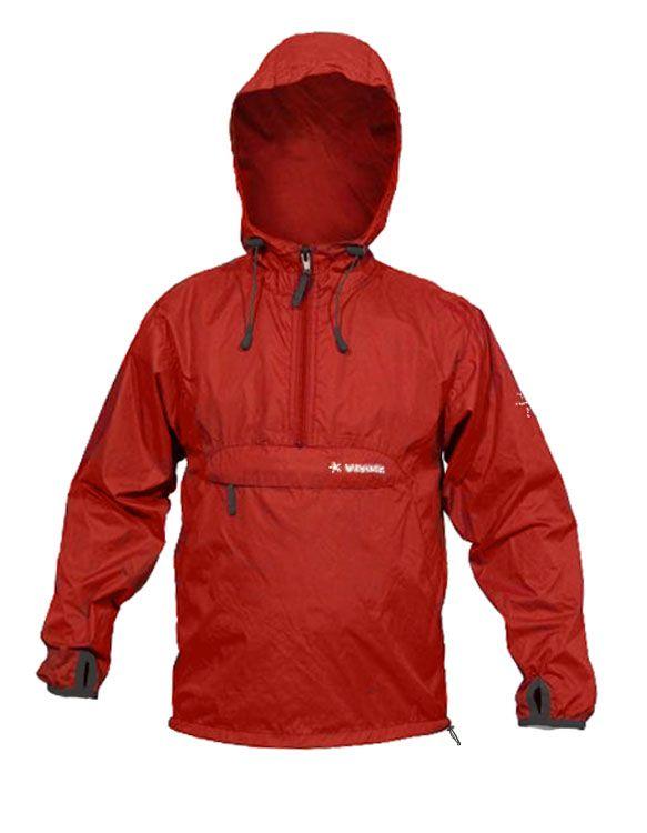 Warmpeace Bongo redwood dětská ultralehká bunda přes hlavu