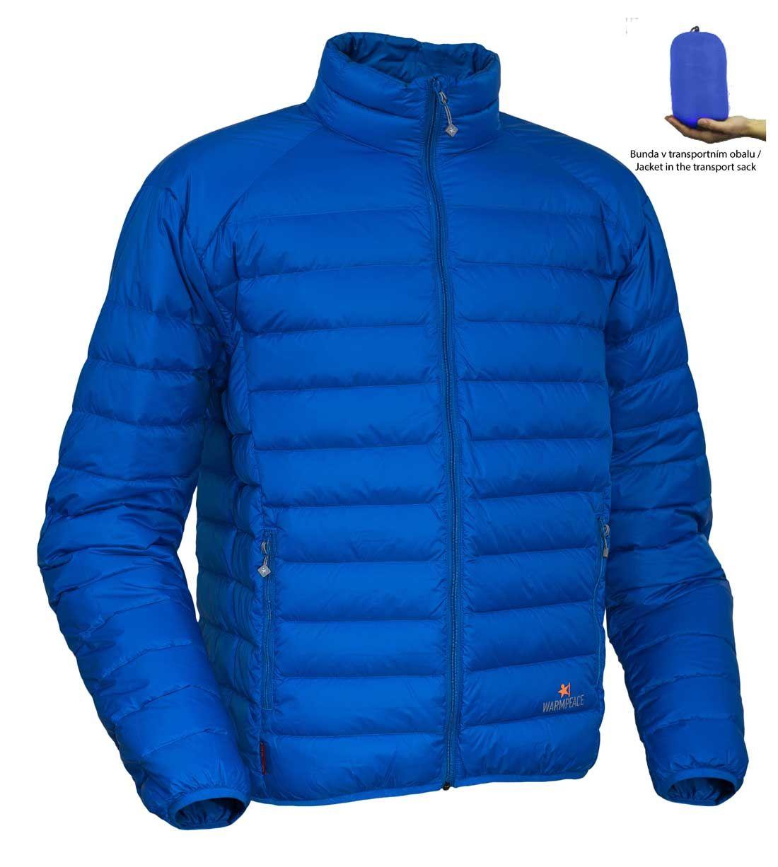 Warmpeace Drake péřová bunda royal blue