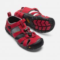 KEEN Seacamp II CNX Junior Racing Red / Gargoyle Dětský sandál