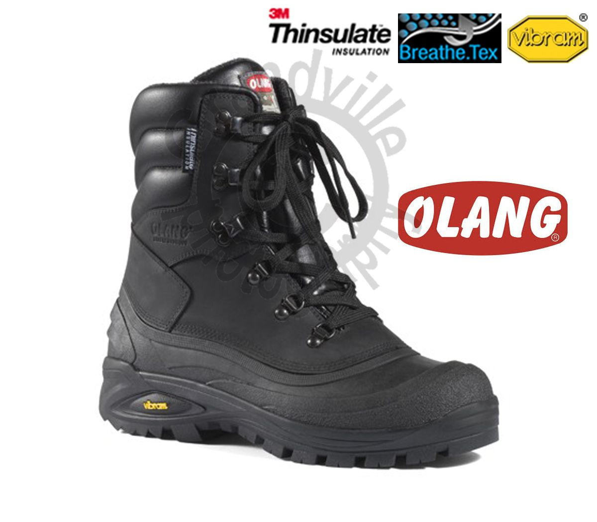 Olang Titanio Nero Zímní zateplená obuv