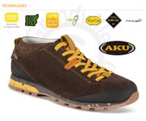 AKU Bellamont Suede GTX Dark brown / Yellow