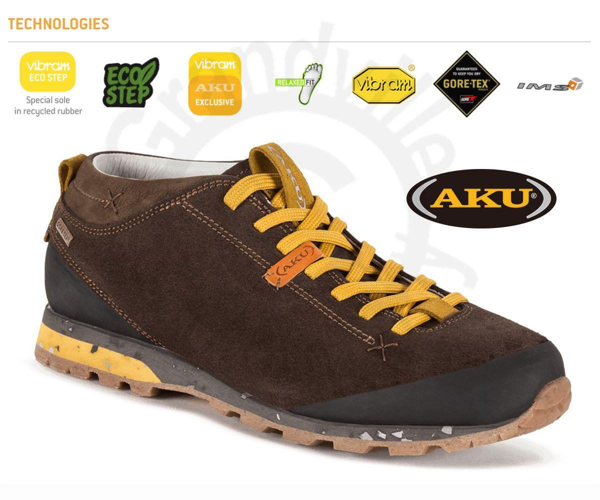 AKU Bellamont Suede GTX Dark brown / Yellow Outdoorová obuv